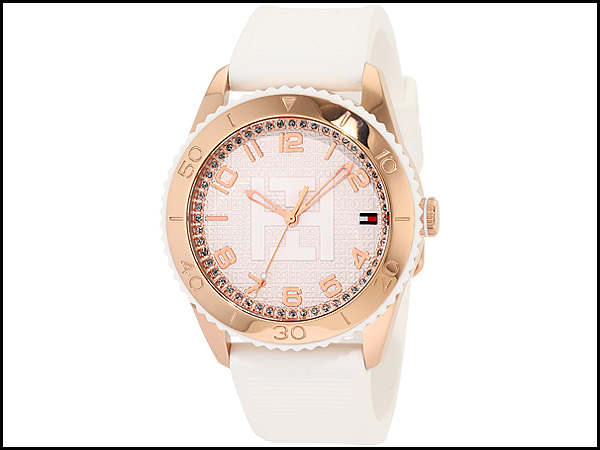 Tommy-Hilfiger-Women's-1781121-Sport-Rose-Gold-Toned-White-Silicon-Watch