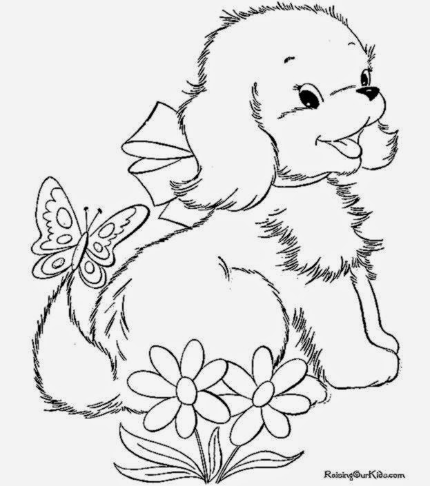 Pictures Of Puppies To Color | Free Coloring Pictures