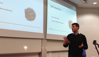 Presenting at Heriot Watt university