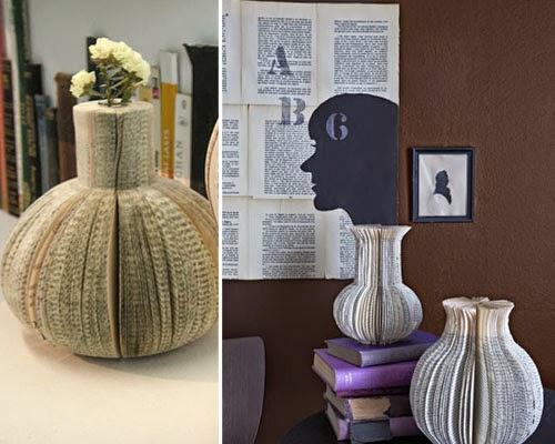 ma maison au naturel 20 mani res de recycler un vieux livre. Black Bedroom Furniture Sets. Home Design Ideas
