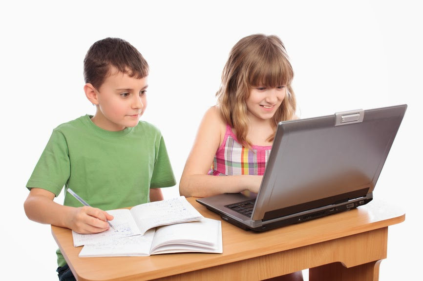 Happy Parents Helping Children With Homework Stock Photo   Image           aploon
