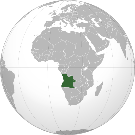 Globo Terráqueo Angola