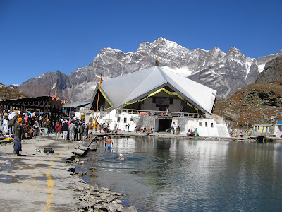Hemkund Sahib Gurudwara and hemkund Tal in Garhwal Himalyas beyond Badrinath