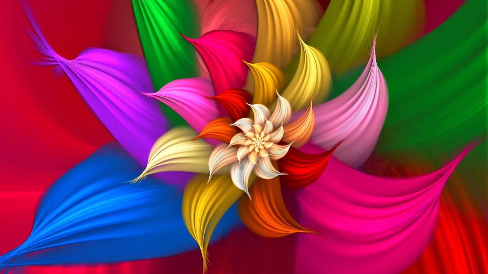 Abstract Flowers wallpaper