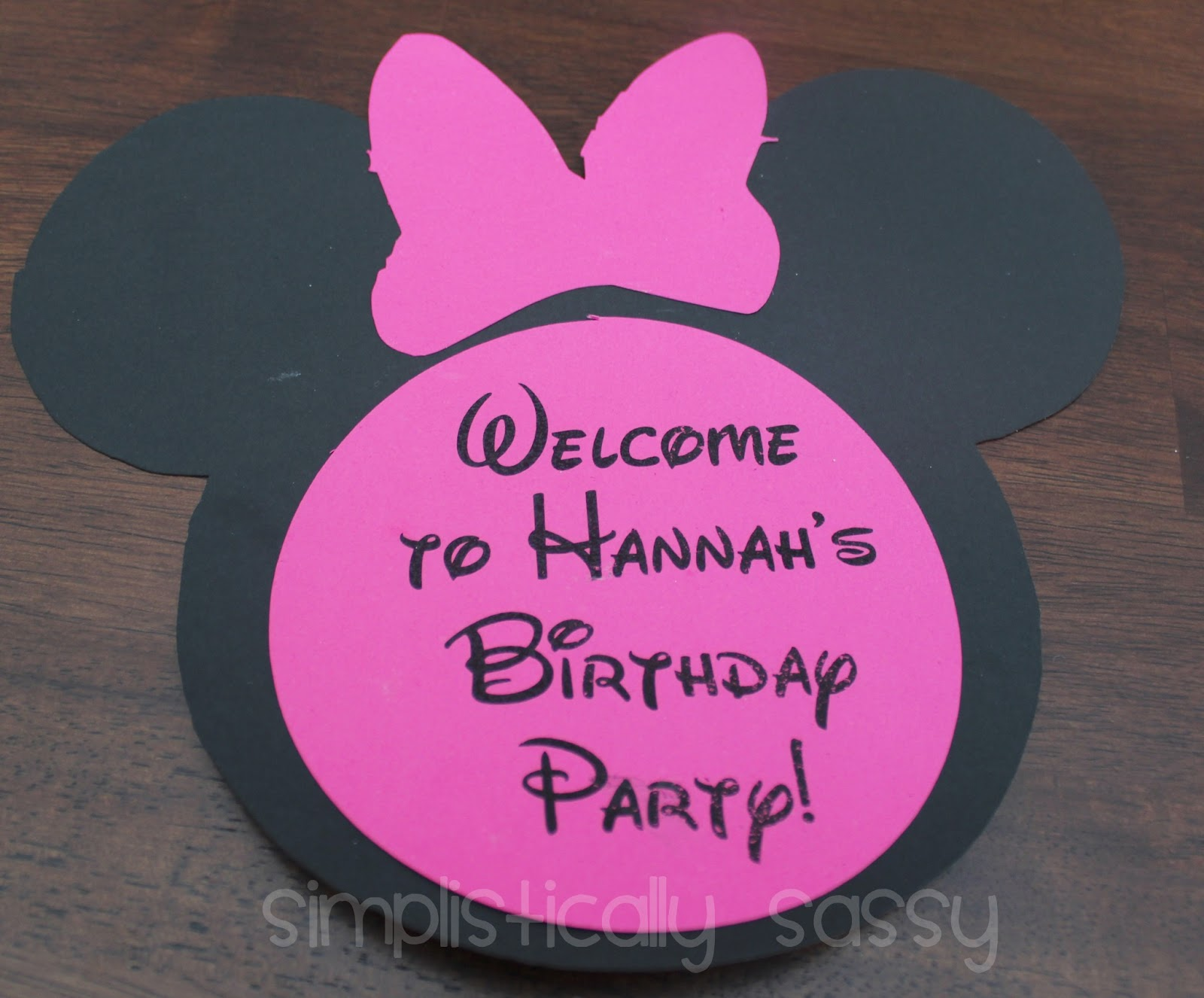 Mini Minnie Mouse Birthday Party on a Budget by Simplistically Sassy