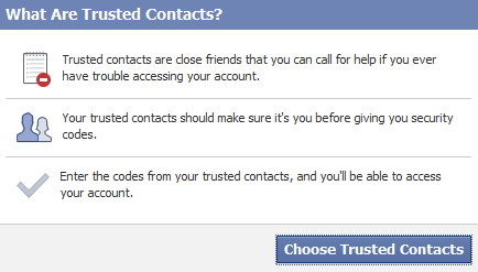 Add Trusted Contacts on Facebook to make your Facebook account more secure