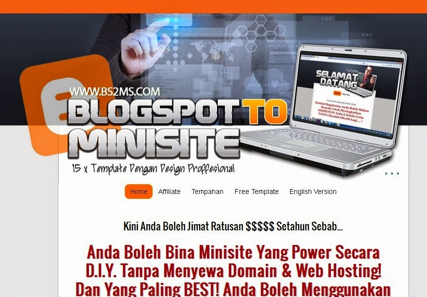 Macam Mana Cara Bina Laman Web Promosi PERCUMA Dengan Blogspot