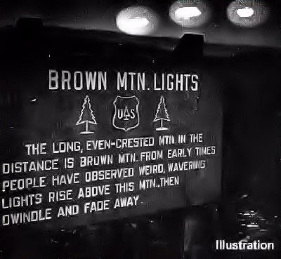 Brown Mtn Lights Sign