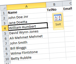 Excel Sort By Last Name