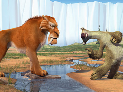 Sid bowing to Diego in Ice Age: The Meltdown disneyjuniorblog.blogspot.com
