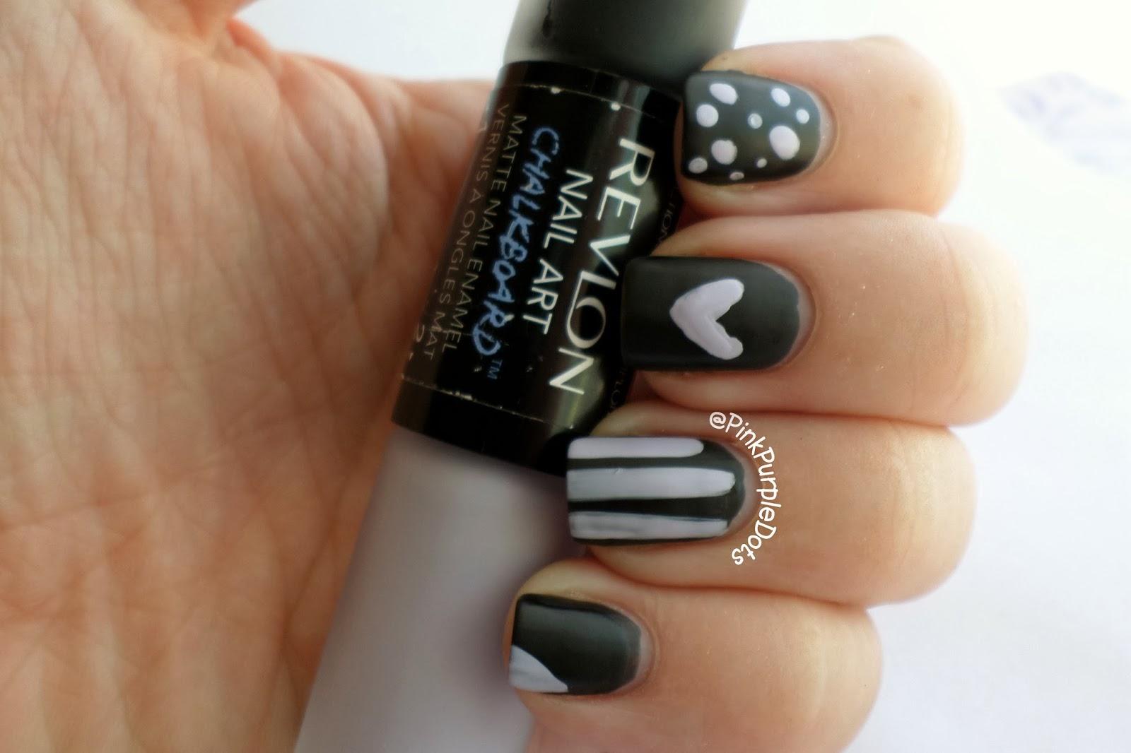 Pink Purple Dots Revlon Chalkboard Nails