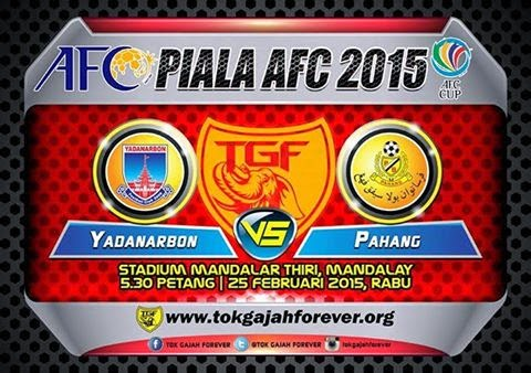 result Pahang Vs Yadanarbon 25 Feb 2015 AFC Cup