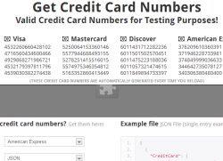 generare carte di credito