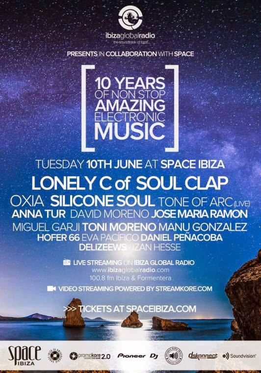 ibiza global radio, ibiza, radio, ten years, space ibiza
