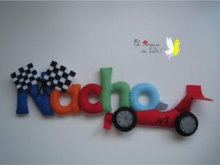 nombre-de-fieltro-Nacho-decoración-formula-1