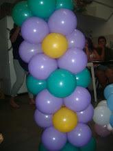 Ornamentação com balões
