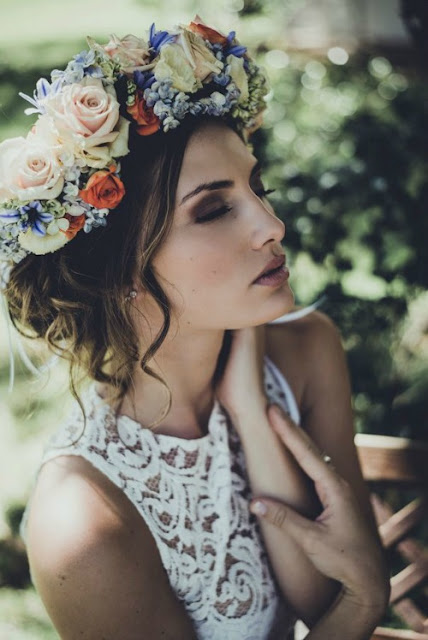 7 Floral Crown Bridal Hairstyle Ideas
