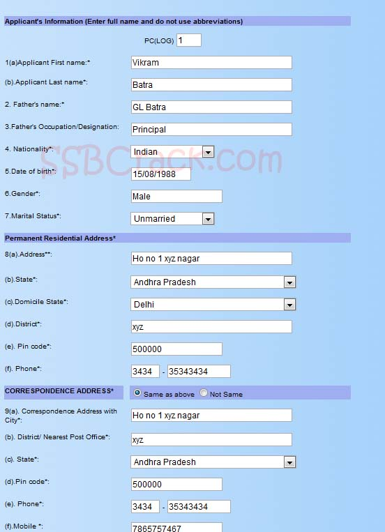 How to fill Indian Navy Online Application Form