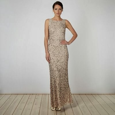 Affordable Sequinned Maxi Dress - Debenhams