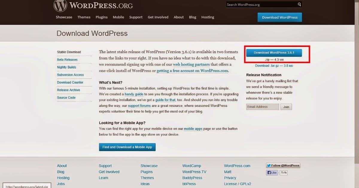 How to install wordpress on Xampp server in Windows 8 ~ Chand2 Like