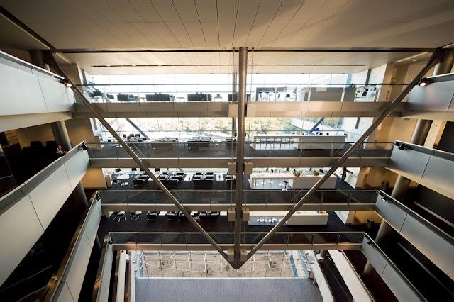Floors and balconies above the main lobby