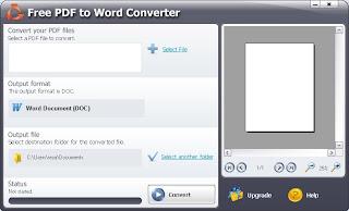 Cara mudah convert file .PDF menjadi file .DOC menggunakan *Pdf To Word Converter*