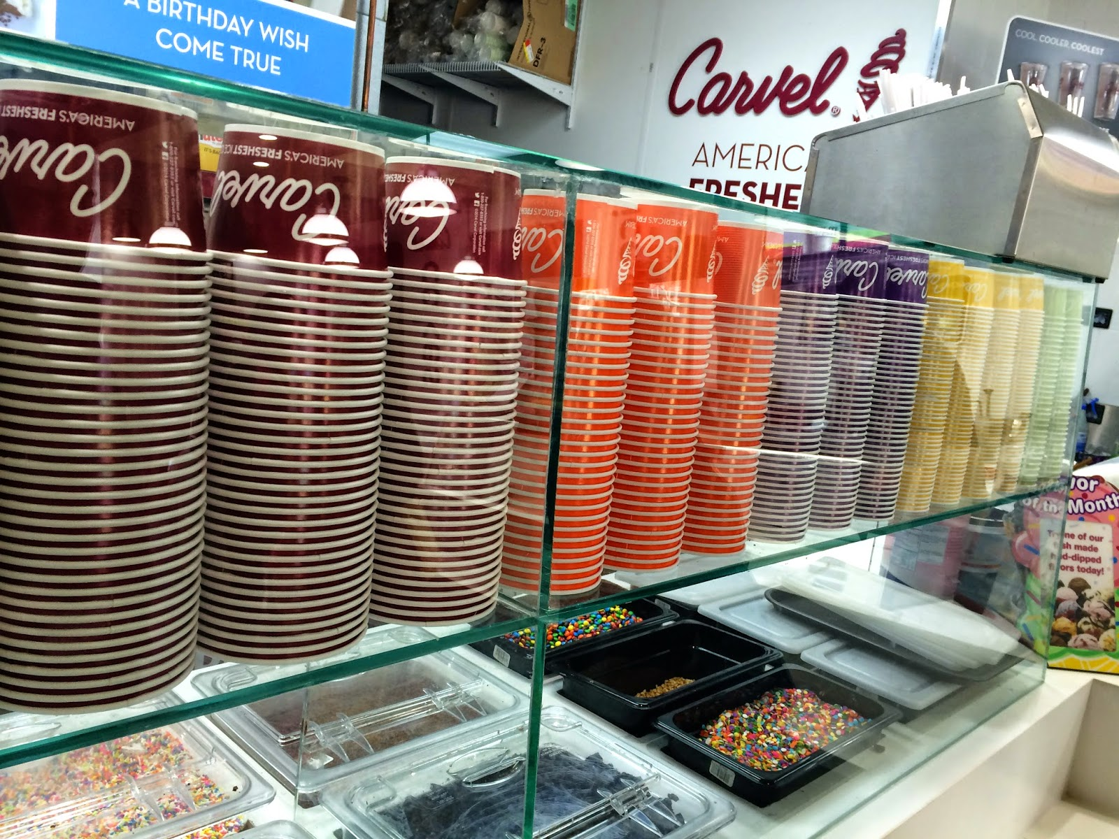 Topping bar at Carvel Ice Cream 9 Broadway