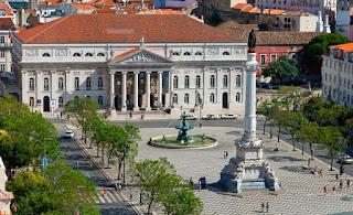 Plaza de El Rossio de Lisboa