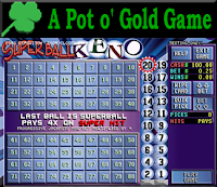 Pot O' Gold Superball Keno