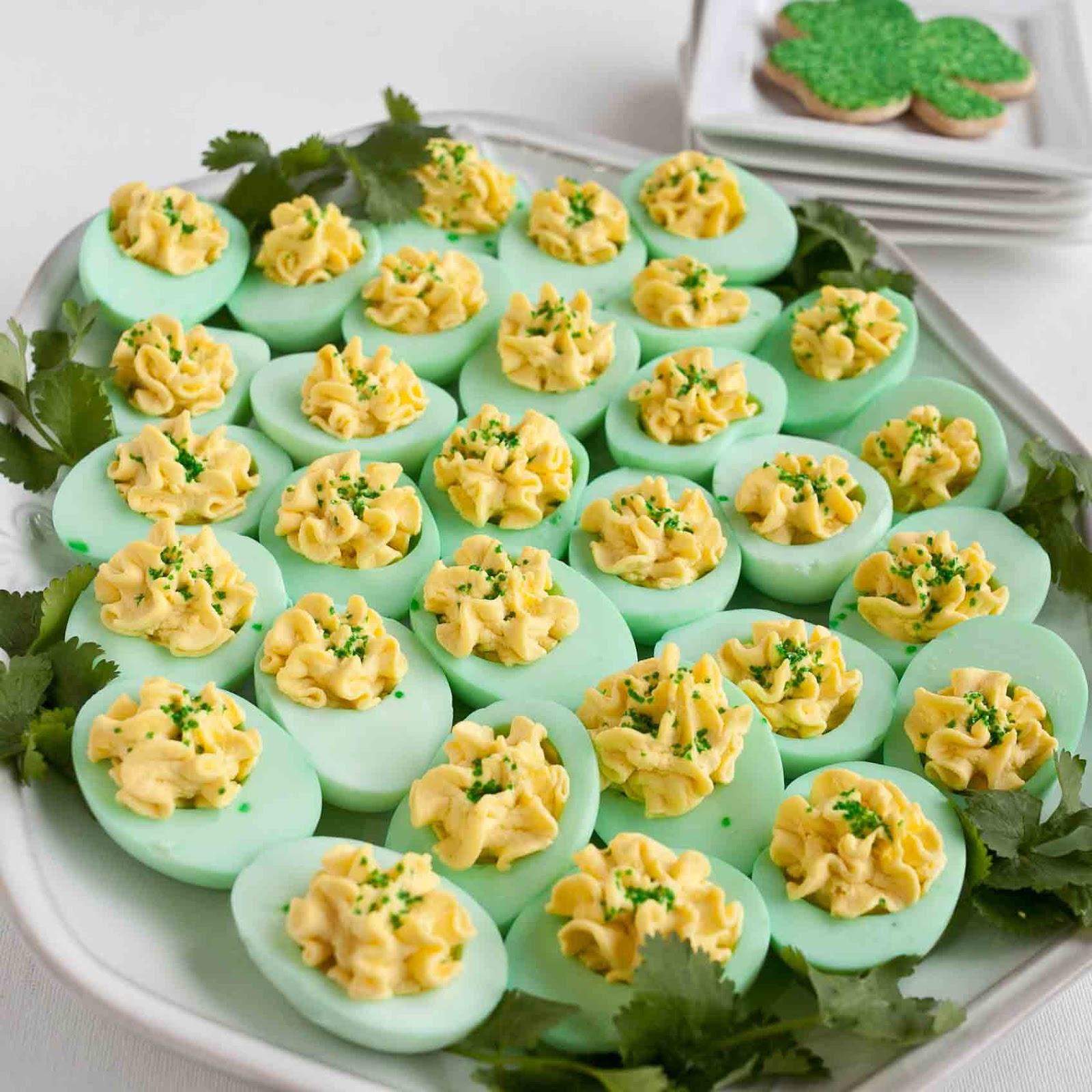 FOODjimoto St Patricks Day Deviled Eggs