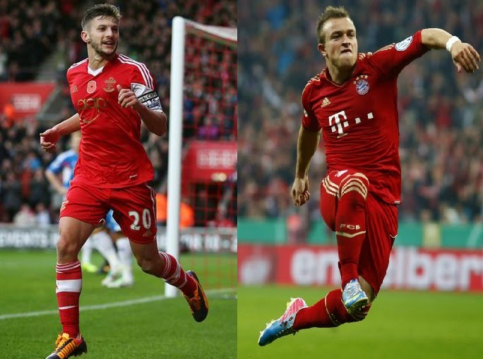 Player Comparison Lallana vs Shaqiri