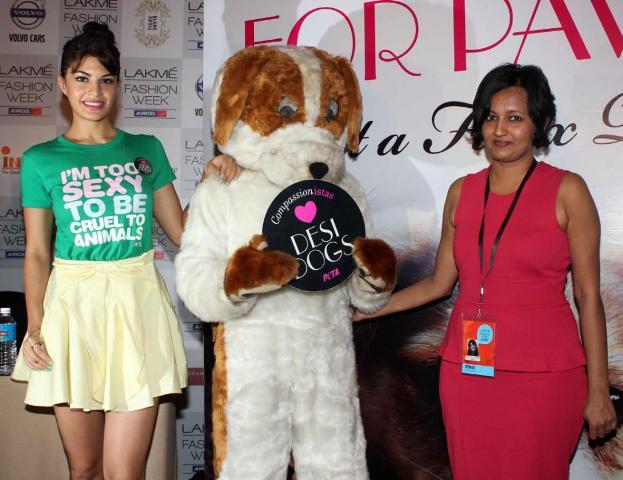 Jacqueline Fernandez At Peta Newest Campaign Launch