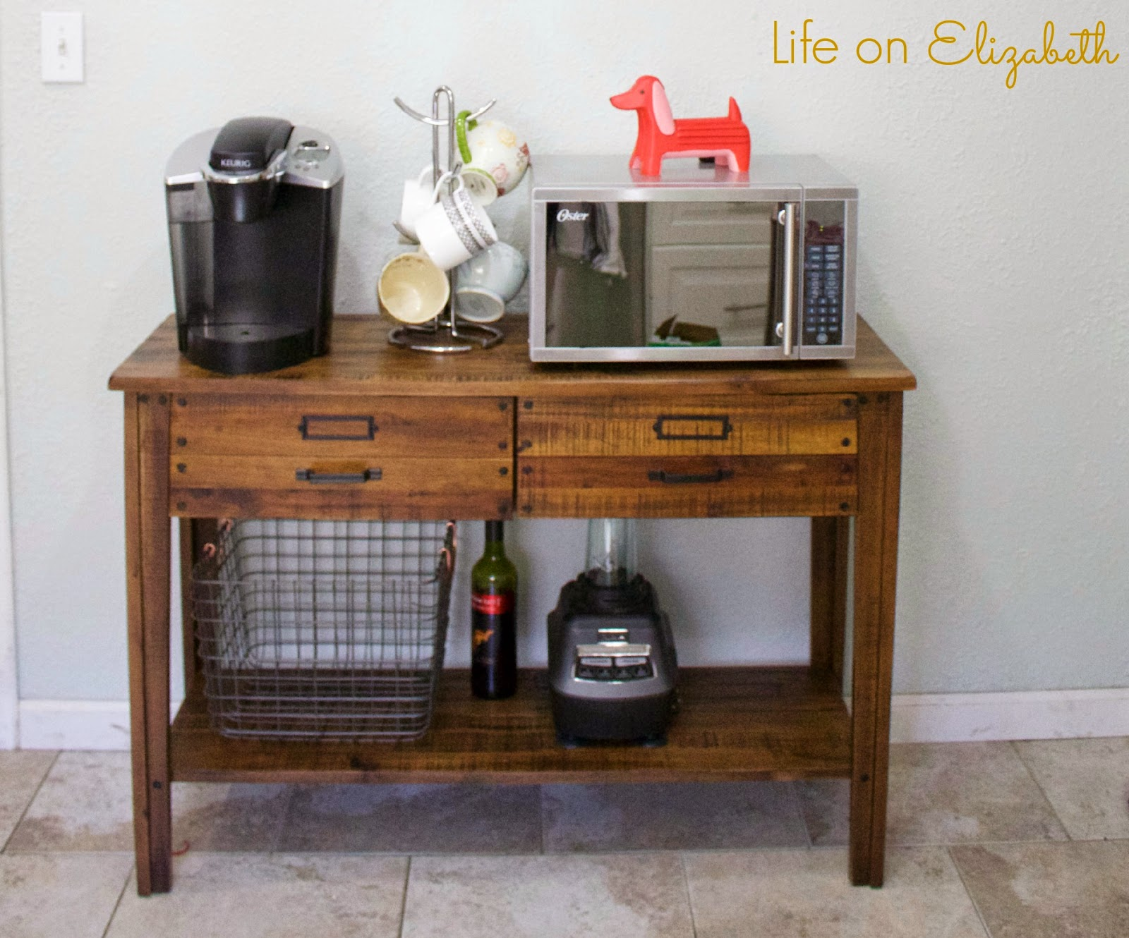 Coffee Station Table Changing Repurposed Into A