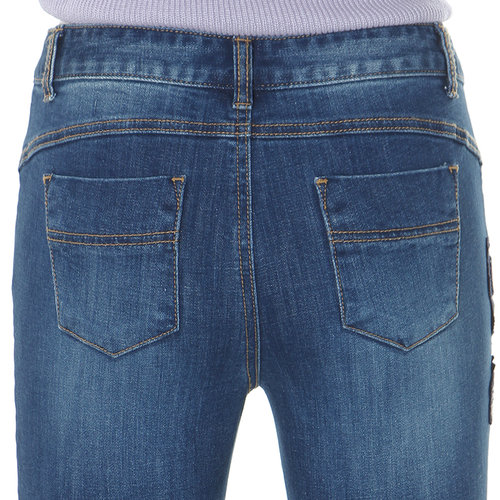 Blue Wash Denim Pants