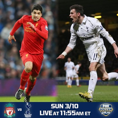 ) Liverpool vs Tottenham Hotspur Liga Inggris (Minggu, 10 Maret 2013
