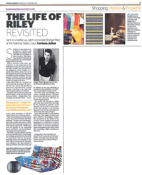 Evening Standard: The Life of Riley Revisited