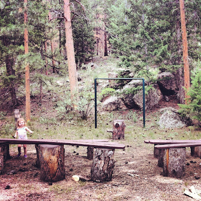 Mountain Park Campground Ampitheater off the Cache La Poudre River on Highway 14 in Roosevelt National Forest #Colorado #ColorfulColorado www.thebrighterwriter.blogspot.com