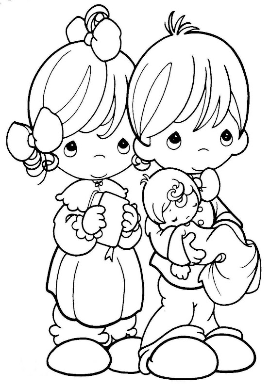 Precious Moments for Love Coloring Pages title=