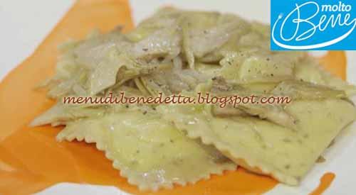 Ravioli verdi con stracchino e carciofi ricetta Parodi per Molto Bene su Real Time