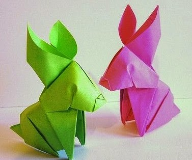 origami rabbit for kids