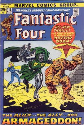 Fantastic Four #116, Dr Doom leads the FF, Over-Mind