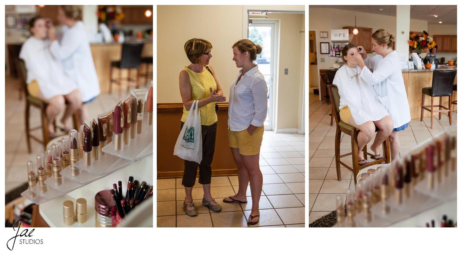Jonathan and Julie, Bird cage, West Manor Estate, Wedding, Lynchburg, Virginia, Jae Studios, bride, mother, getting ready, makeup, bag, yellow, blue, black