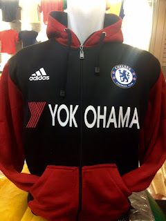 gambar desain terbaru jaket hoodie Chelsea musim depan Jaket hoodie Chelsea Yokohama warna hitam merah terbaru musim 2015/2016di enkosa sport toko online terpercaya lokasi di jakarta pasar tanah abang