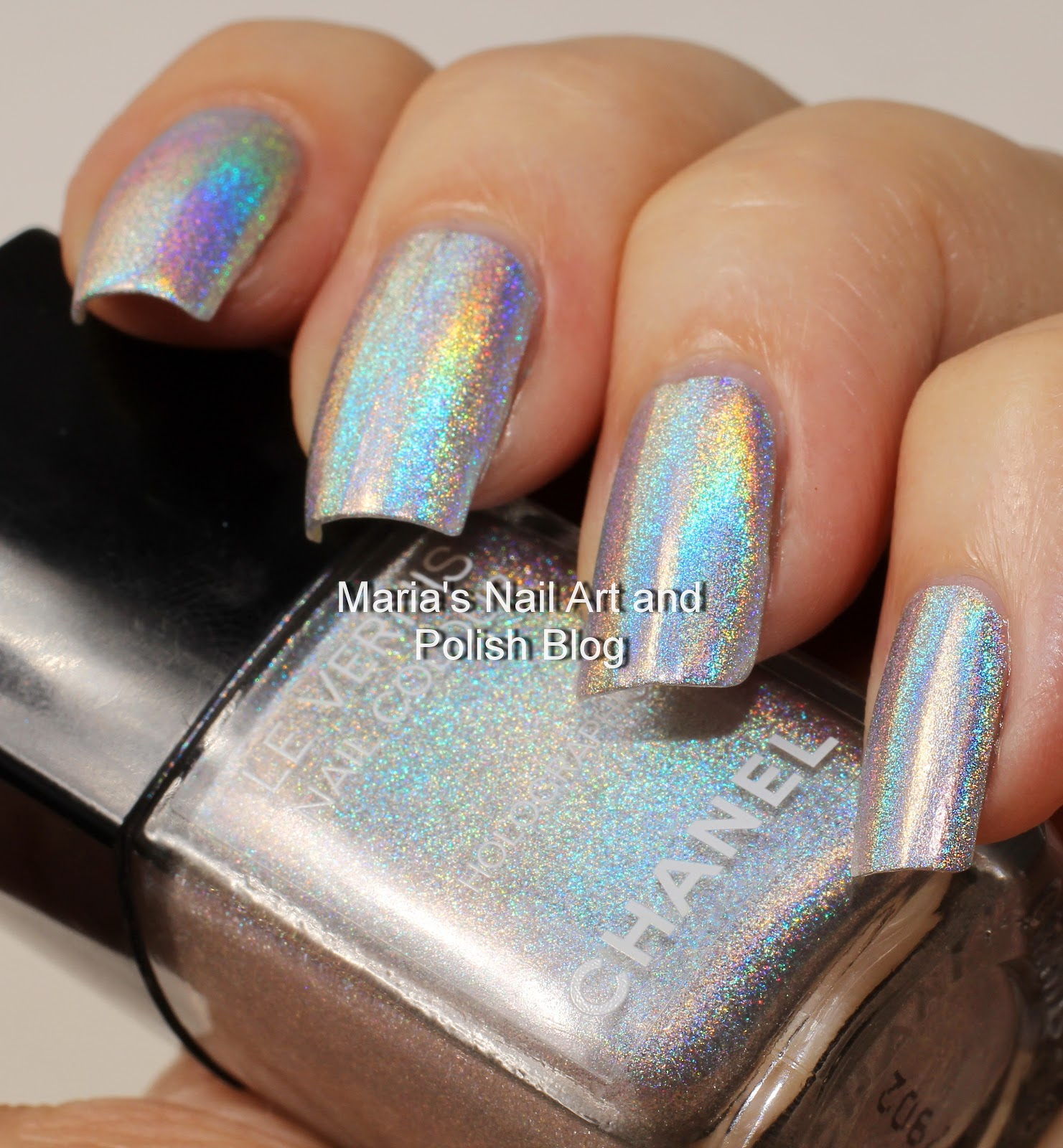Marias Nail Art and Polish Blog: Chanel Holographic - Duo Platinum ...