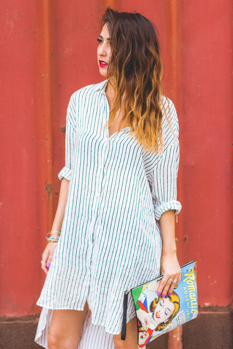 zara stripes dress