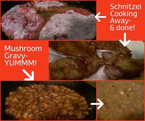 Rindfleish Schnitzel prep