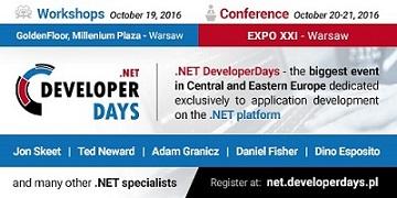 .NET DeveloperDays 2016