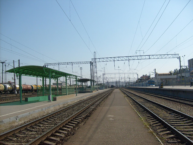 Железнодорожный вокзал, пути