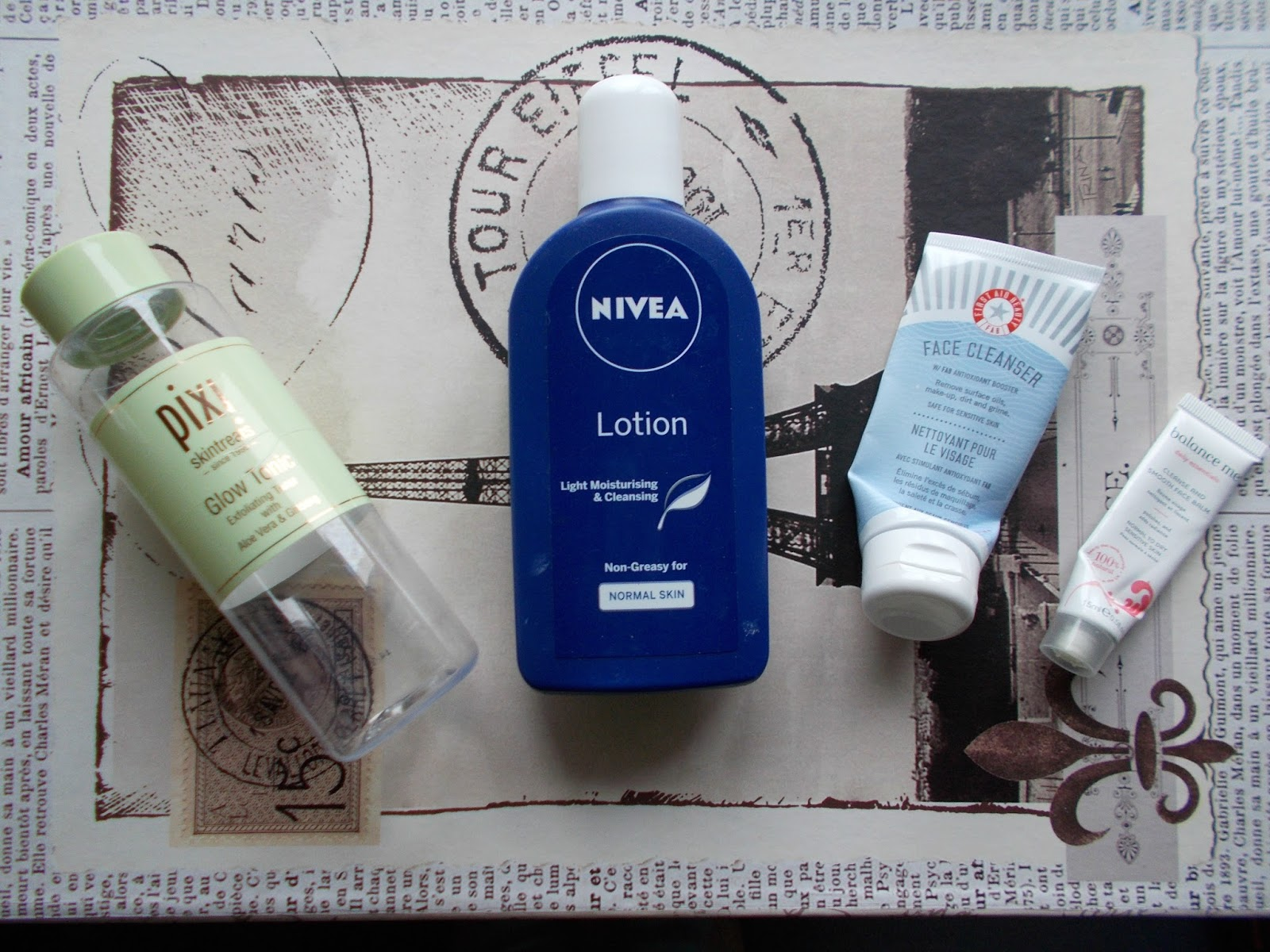 skincare empties reviews nivea pixi glow tonic first aid beauty balance me