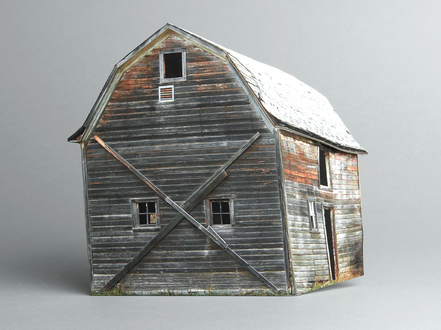 Small Scale Models Of Decaying Homes Built And